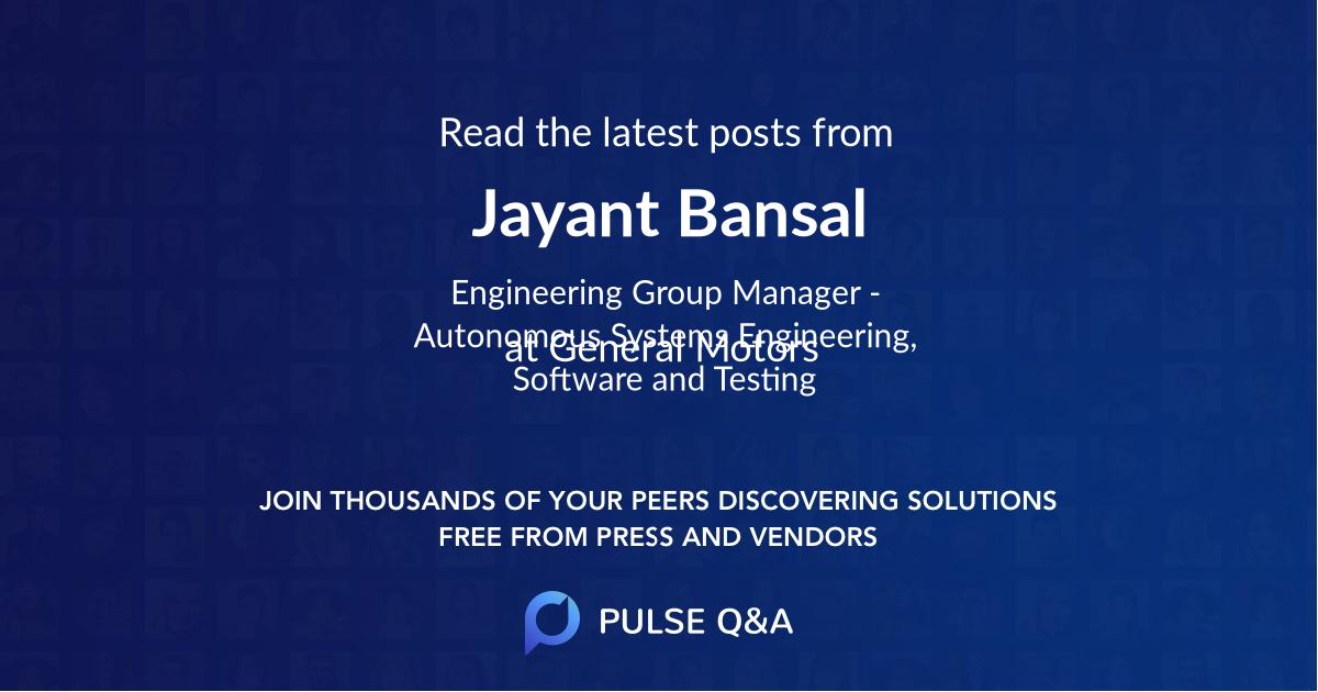 Jayant Bansal