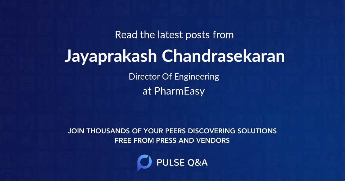 Jayaprakash Chandrasekaran