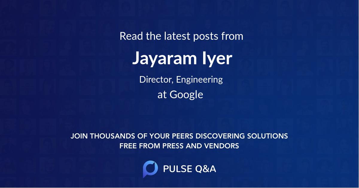 Jayaram Iyer