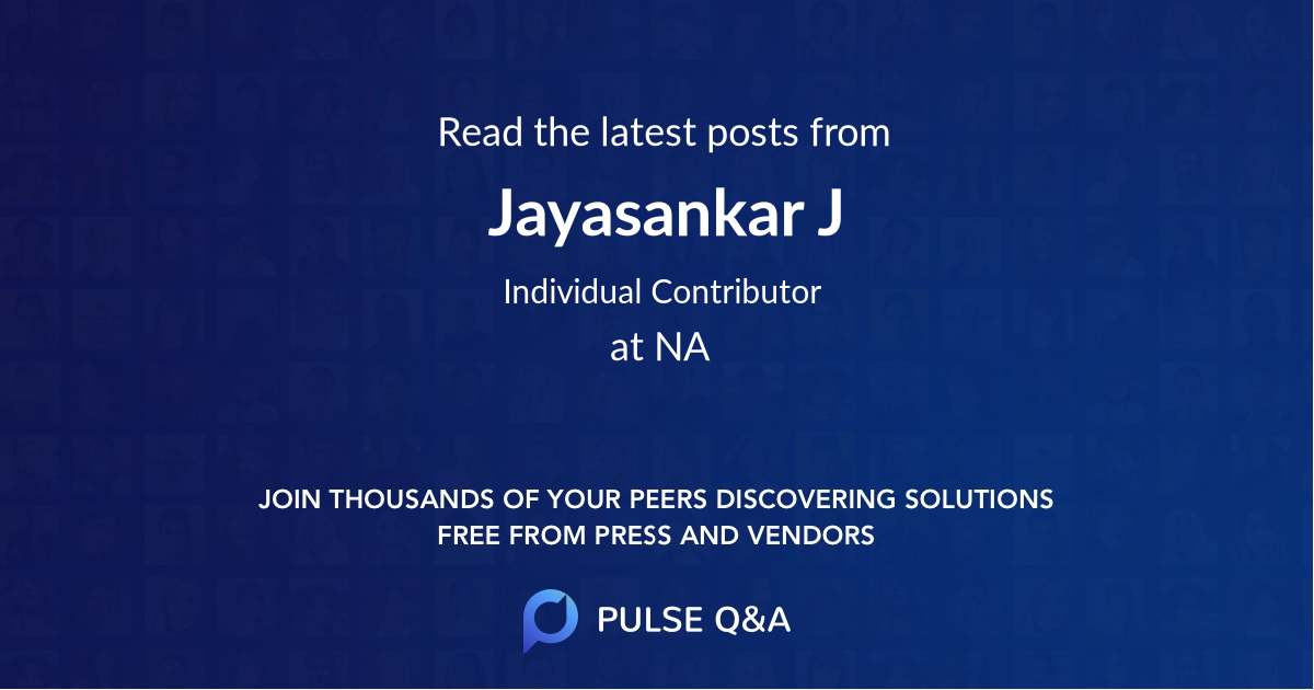 Jayasankar J