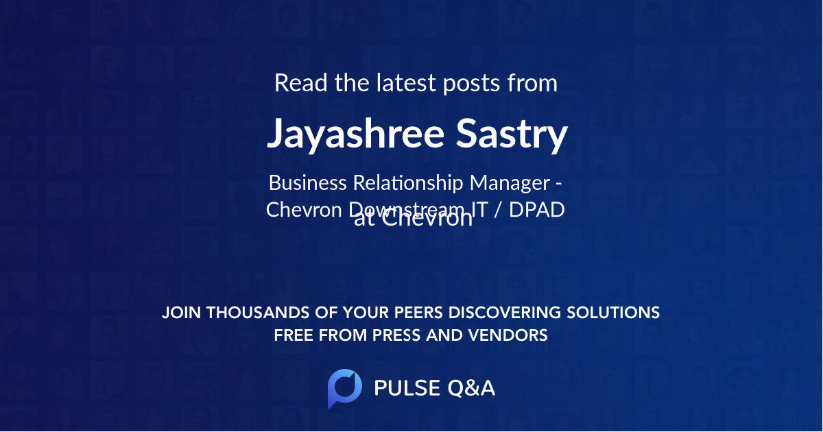 Jayashree Sastry