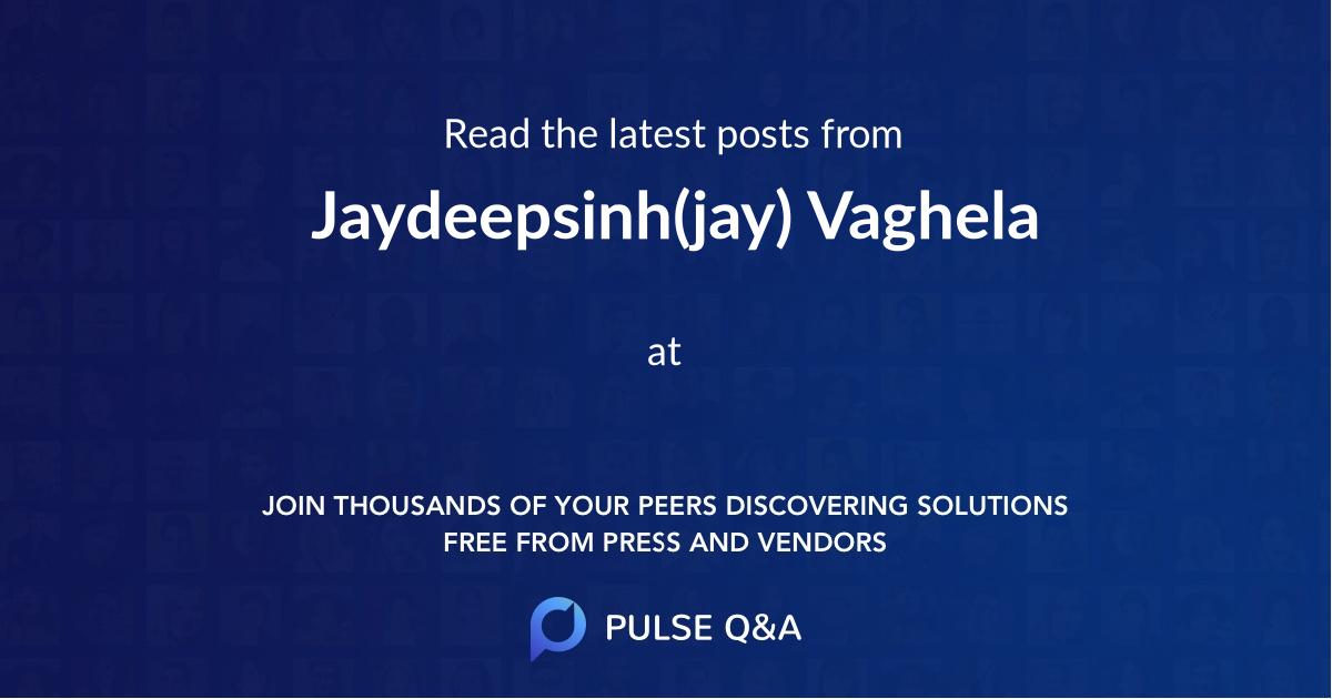 Jaydeepsinh(jay) Vaghela