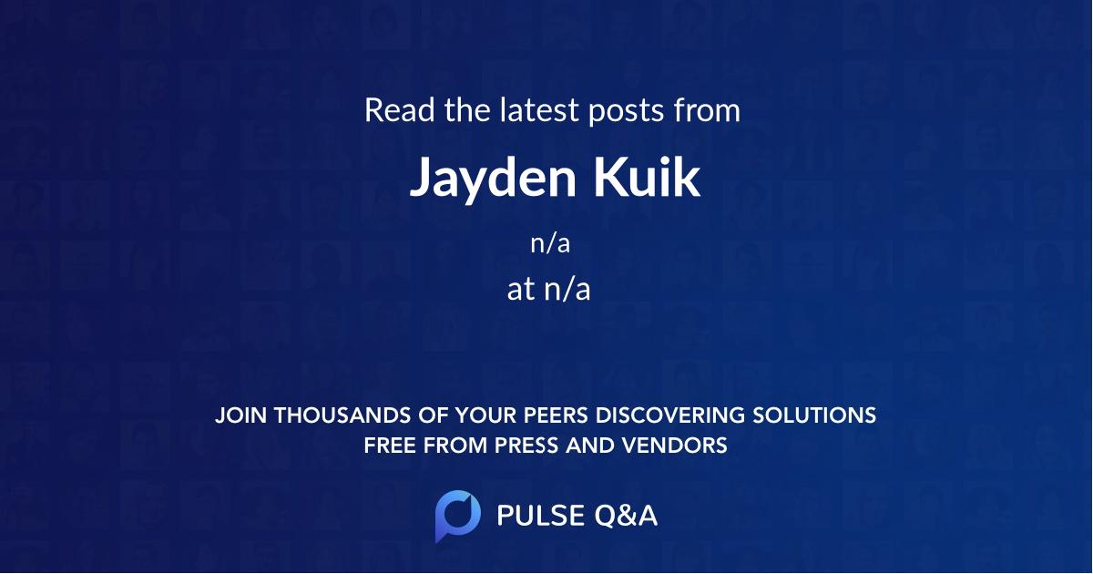 Jayden Kuik