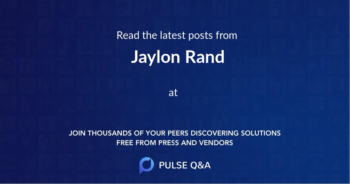 Jaylon Rand