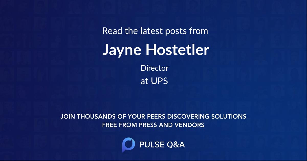 Jayne Hostetler