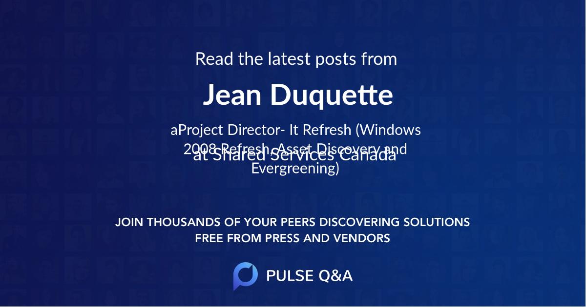 Jean Duquette