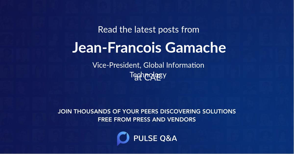 Jean-Francois Gamache