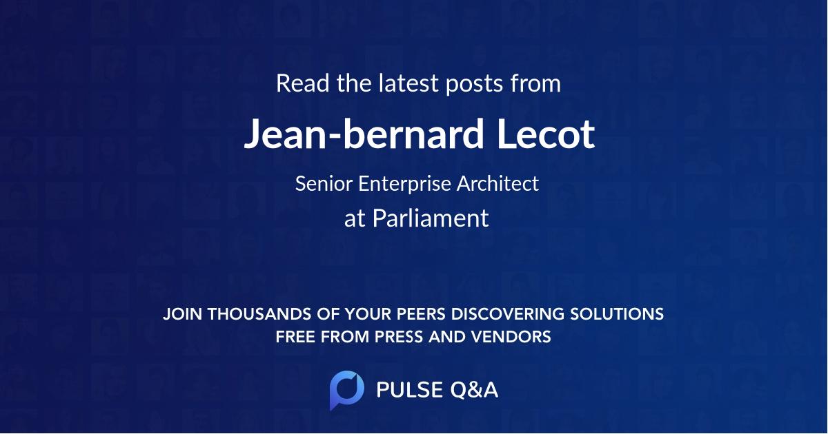 Jean-bernard Lecot