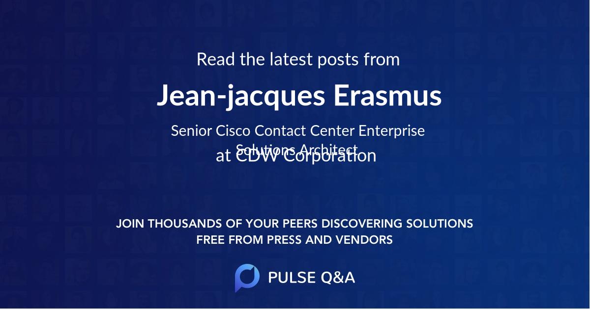Jean-jacques Erasmus