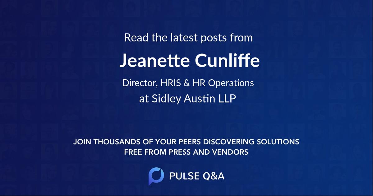 Jeanette Cunliffe
