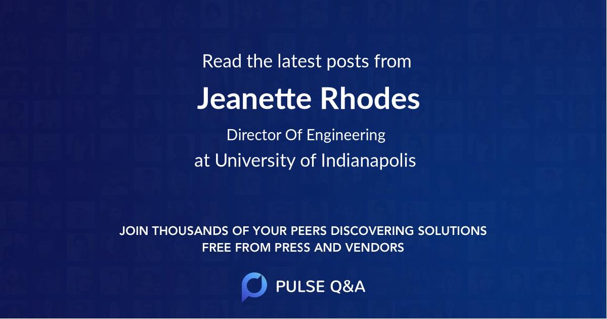 Jeanette Rhodes