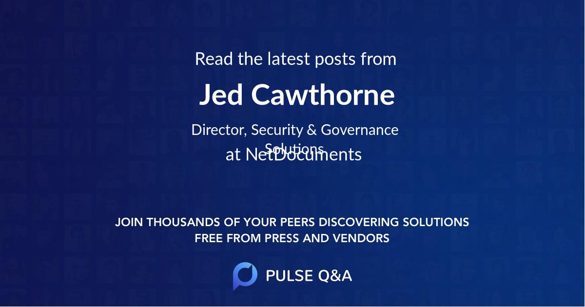 Jed Cawthorne