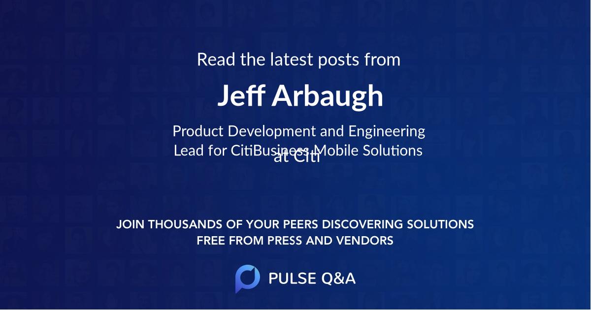 Jeff Arbaugh
