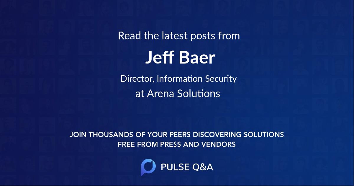 Jeff Baer