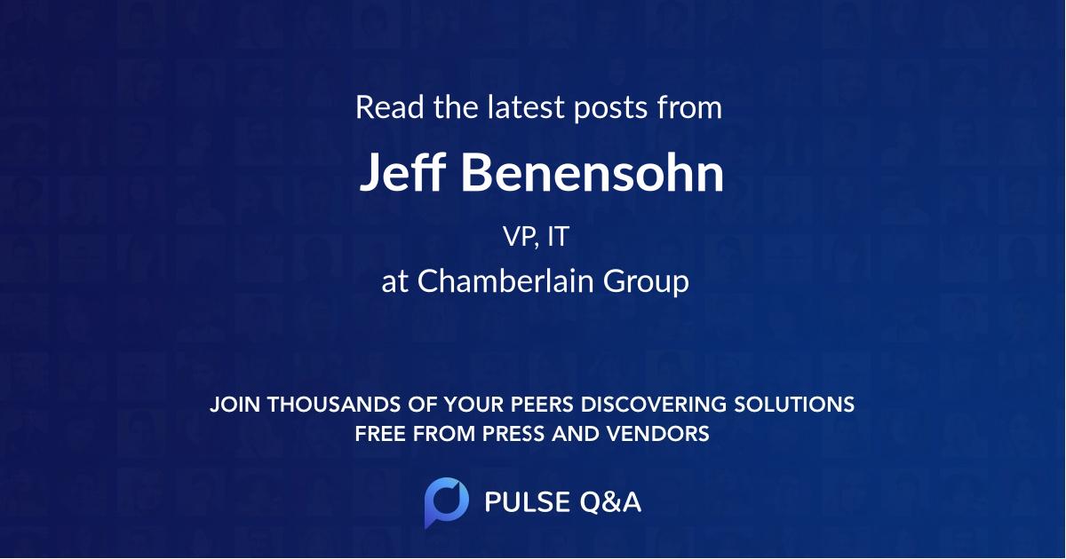 Jeff Benensohn