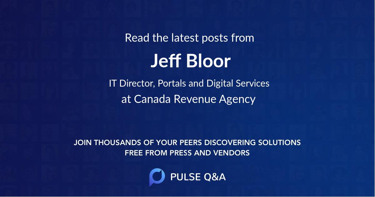 Jeff Bloor