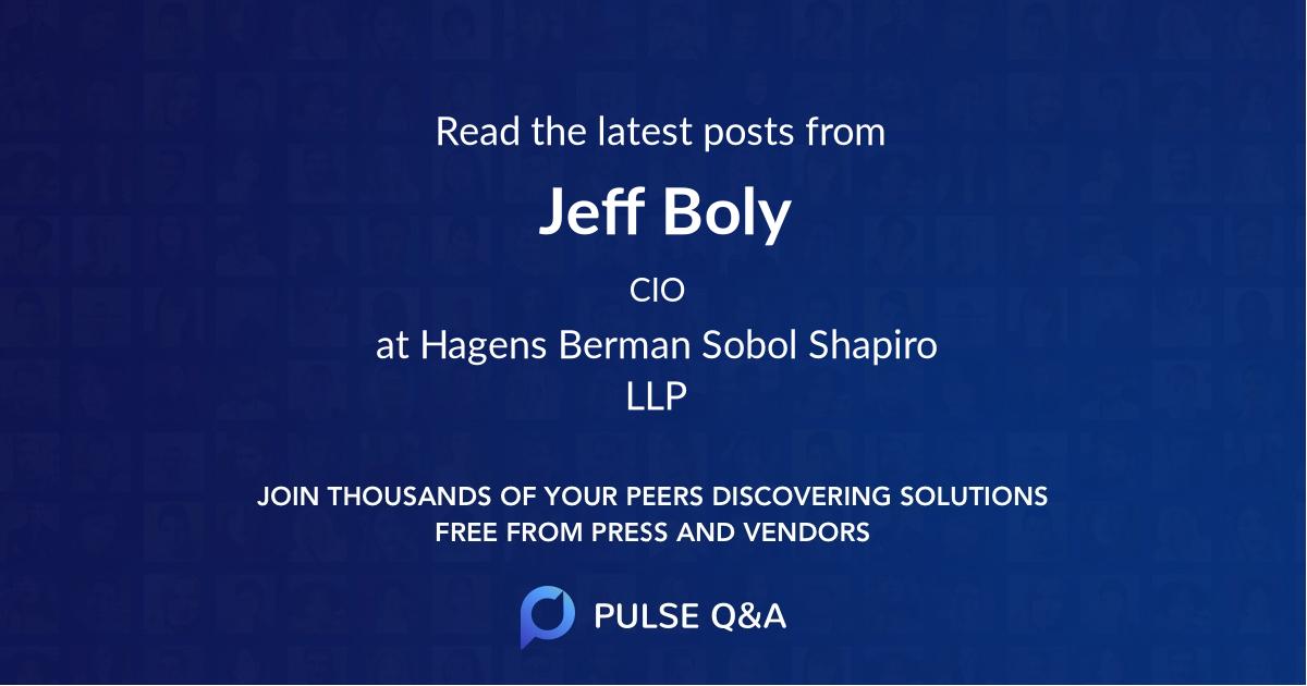 Jeff Boly