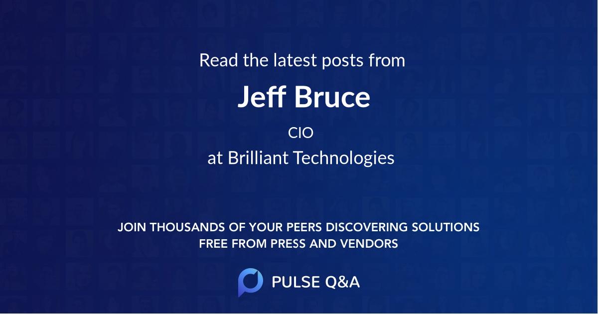 Jeff Bruce