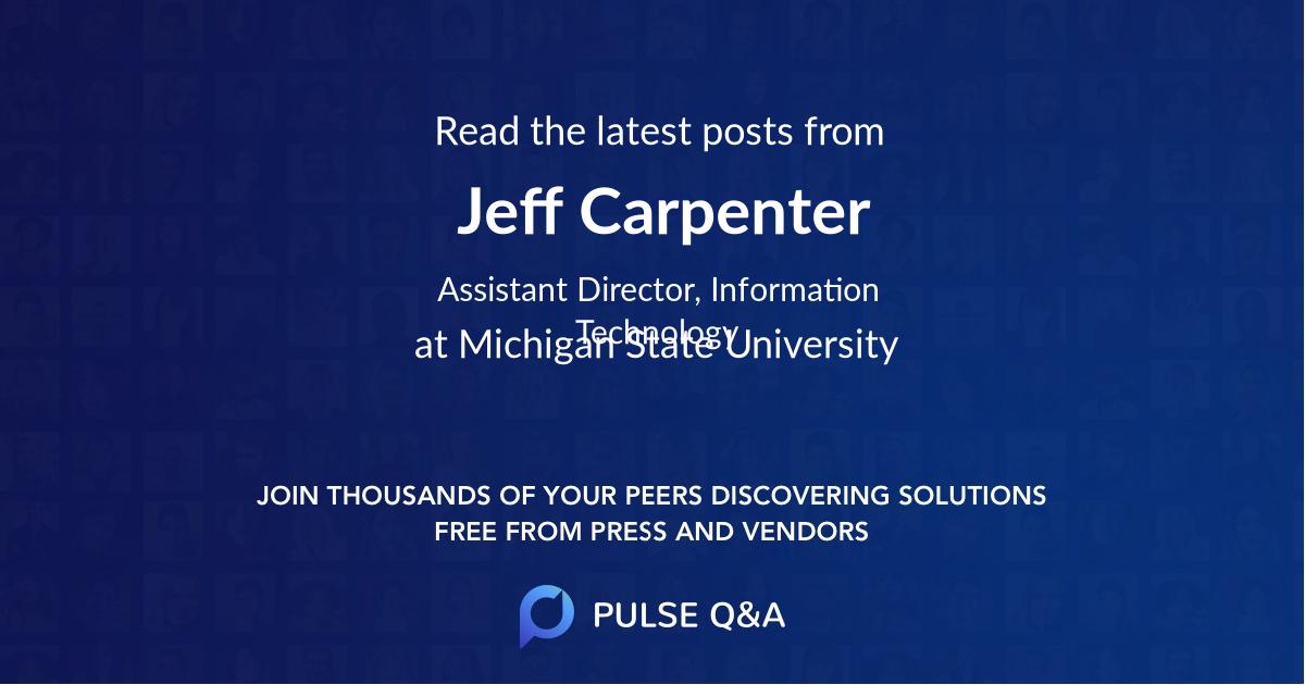 Jeff Carpenter