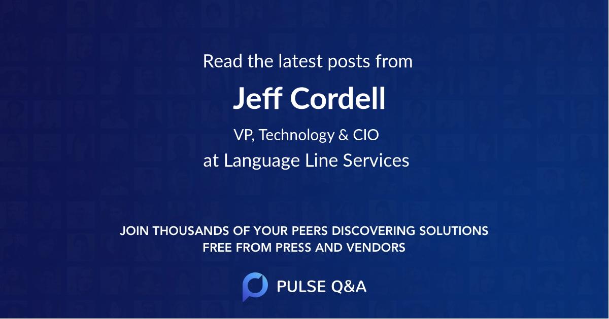 Jeff Cordell