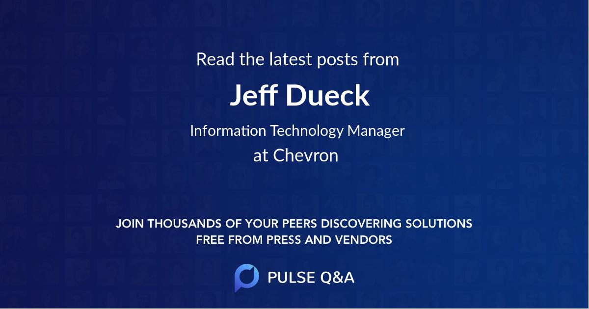 Jeff Dueck