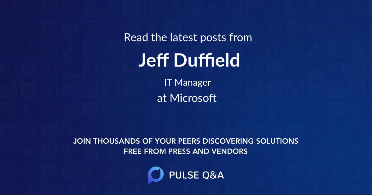Jeff Duffield