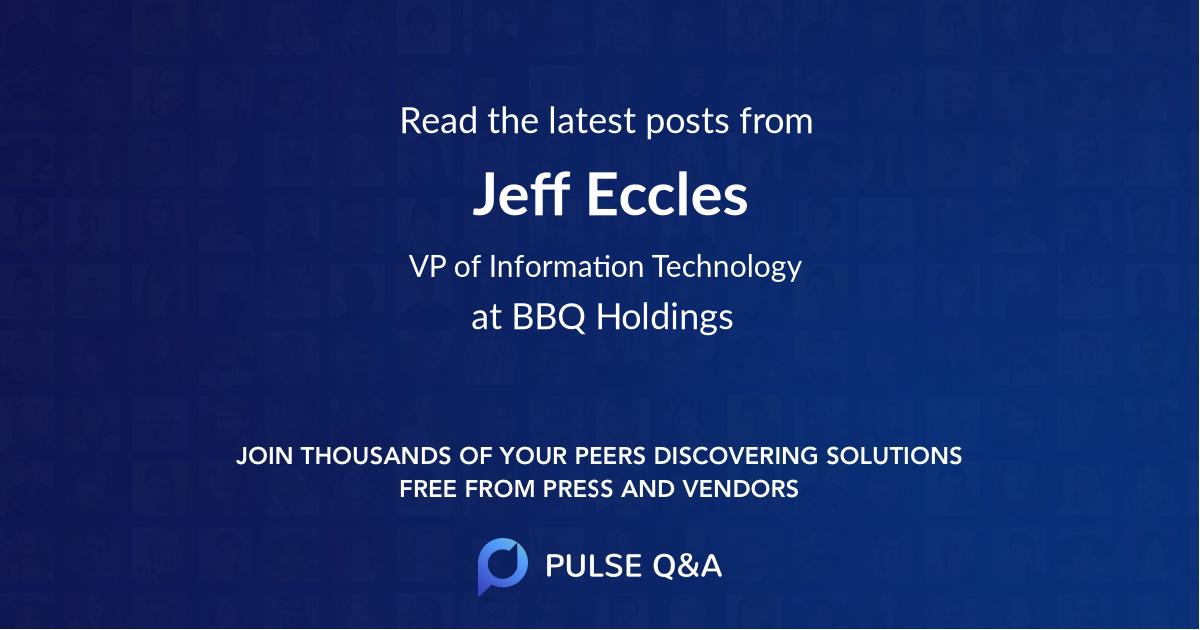 Jeff Eccles