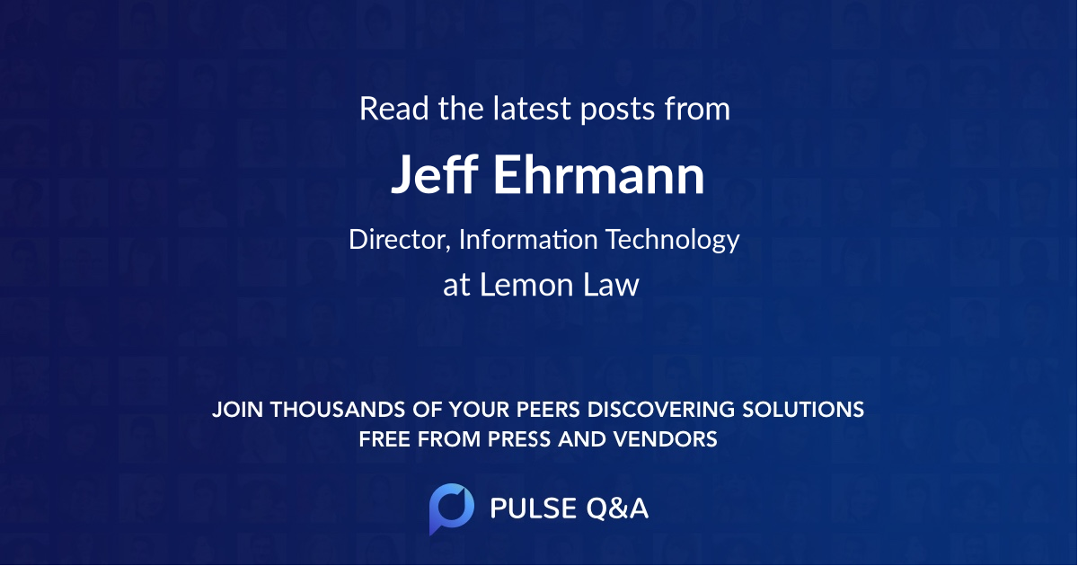 Jeff Ehrmann