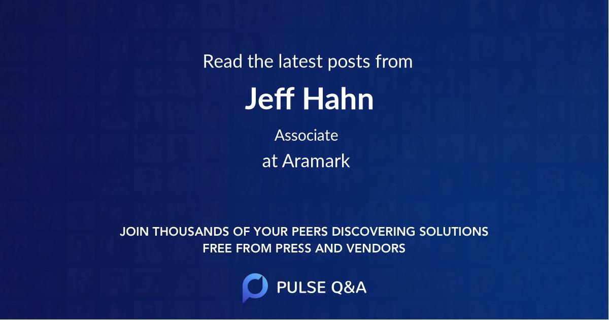 Jeff Hahn