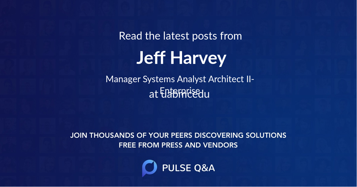 Jeff Harvey
