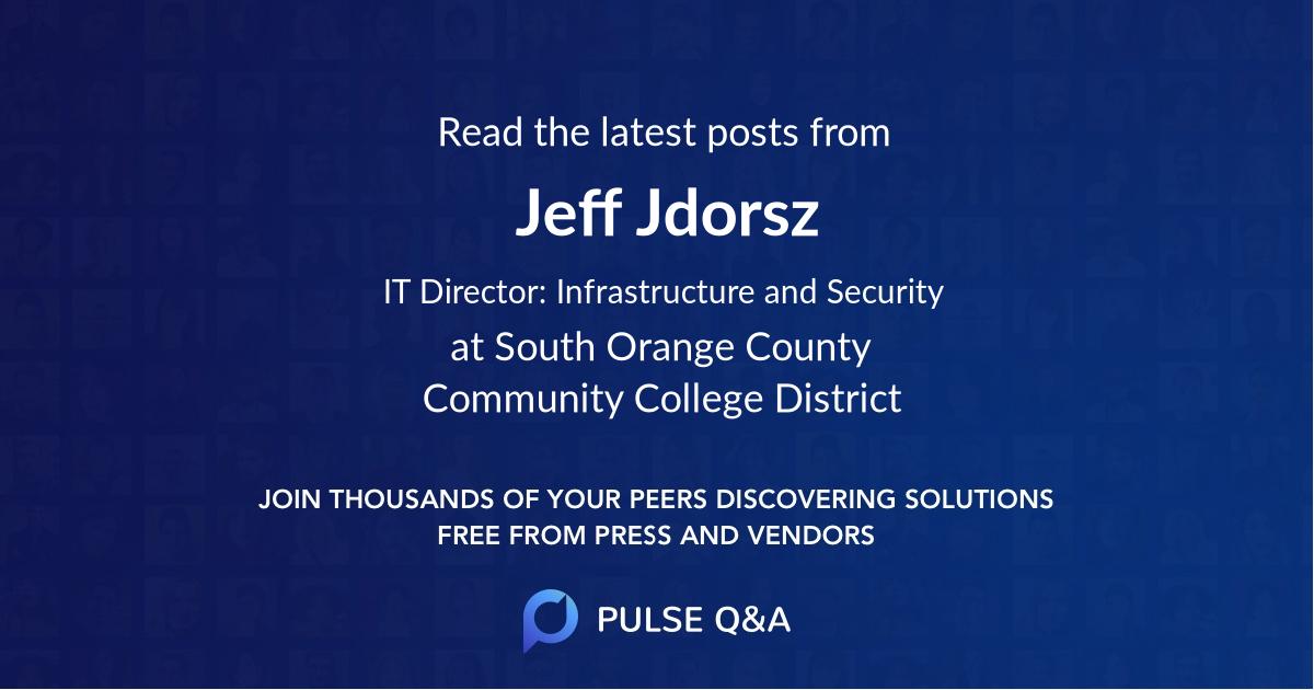 Jeff Jdorsz