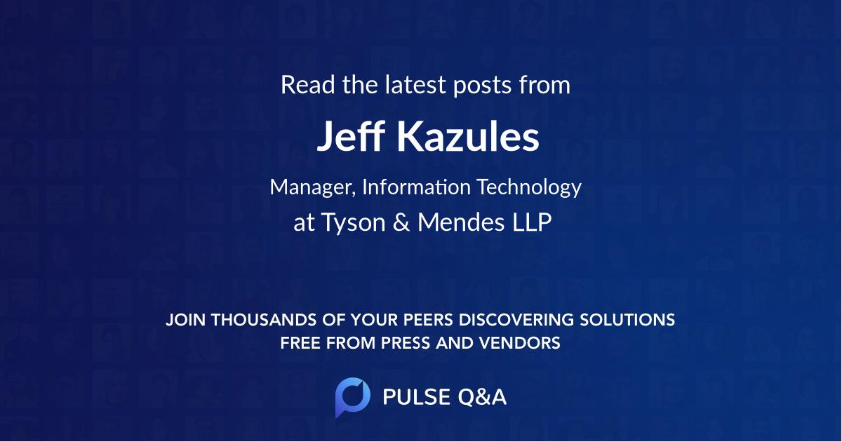 Jeff Kazules