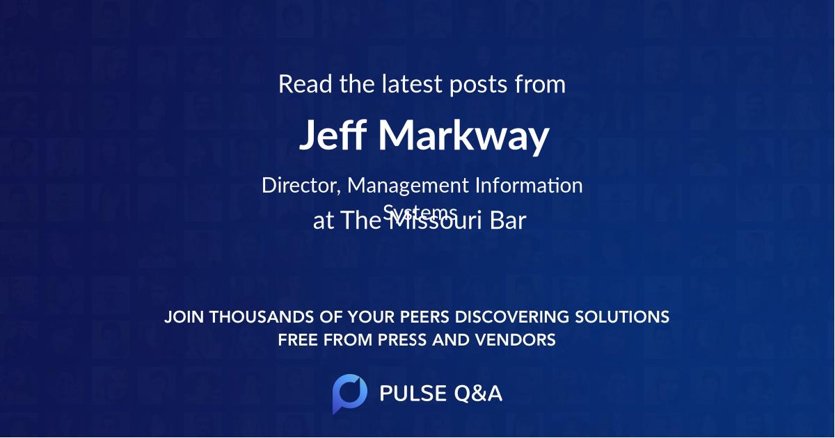 Jeff Markway
