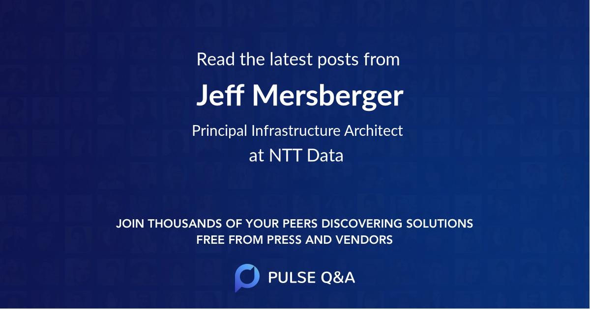 Jeff Mersberger