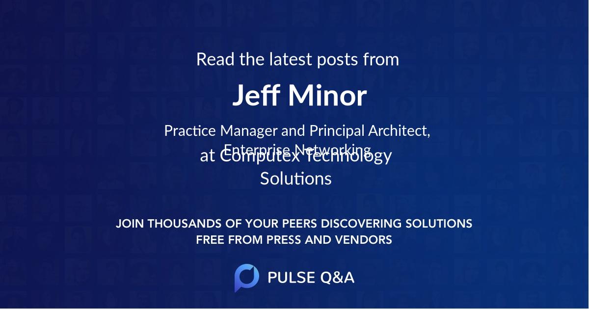 Jeff Minor