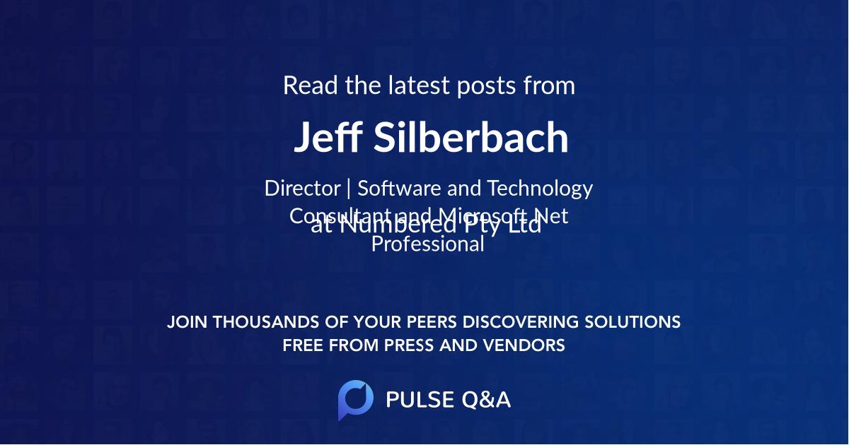 Jeff Silberbach