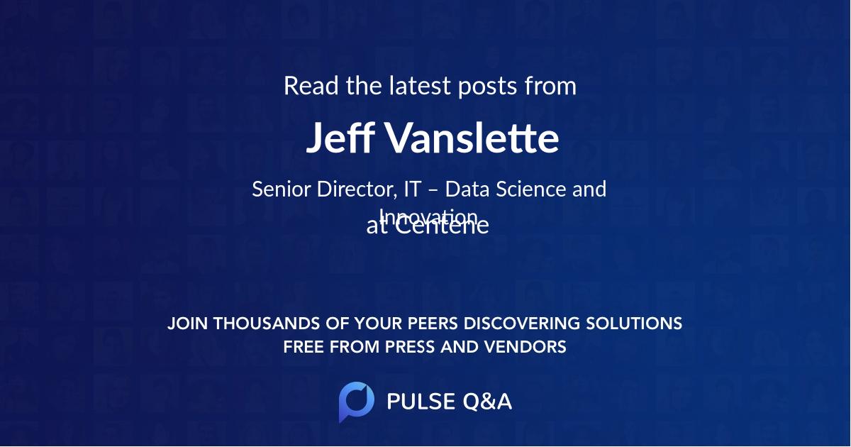 Jeff Vanslette