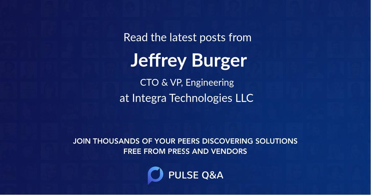 Jeffrey Burger