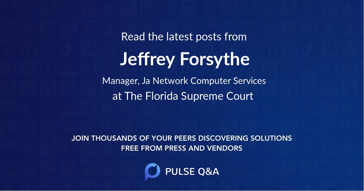 Jeffrey Forsythe