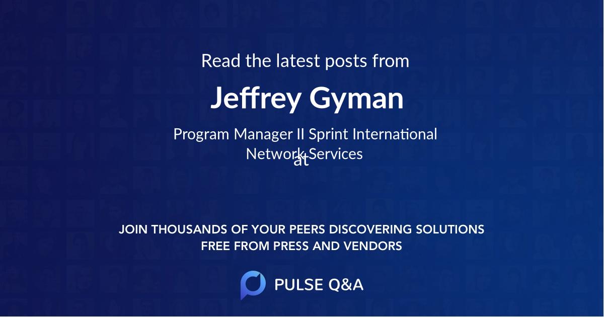 Jeffrey Gyman