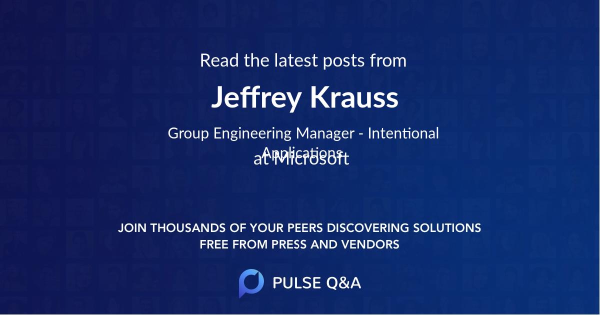 Jeffrey Krauss