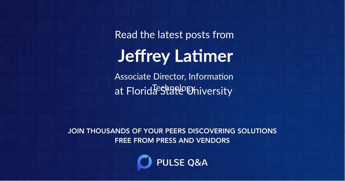 Jeffrey Latimer