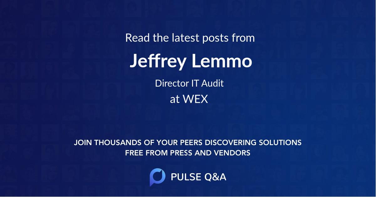 Jeffrey Lemmo
