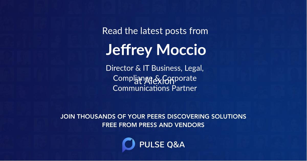 Jeffrey Moccio