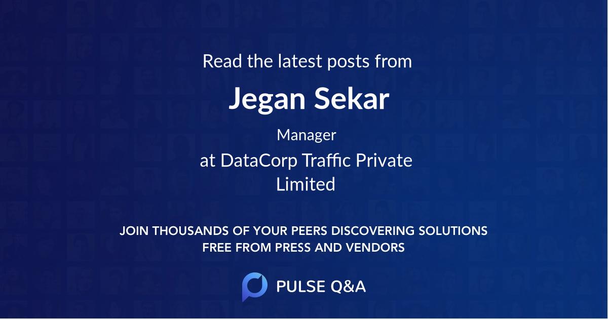 Jegan Sekar