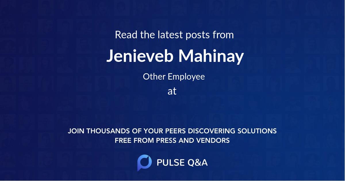 Jenieveb Mahinay