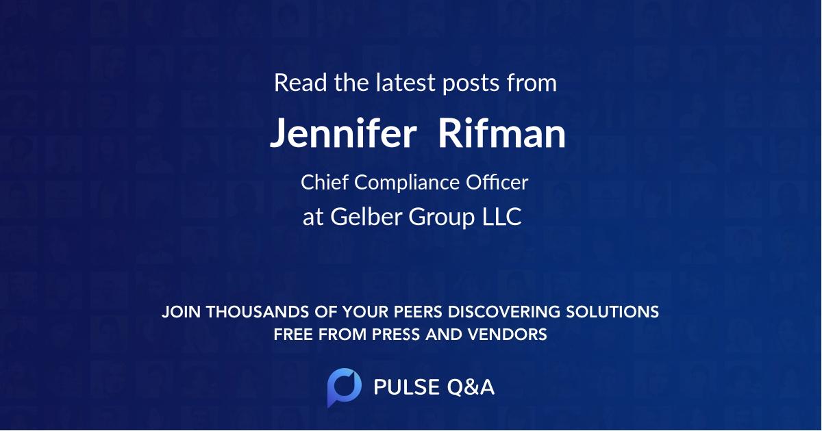Jennifer  Rifman