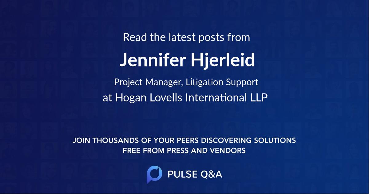 Jennifer Hjerleid