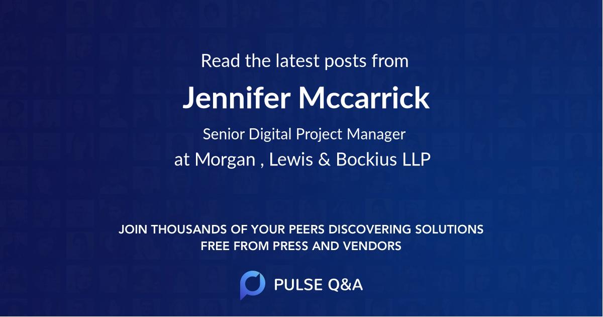 Jennifer Mccarrick