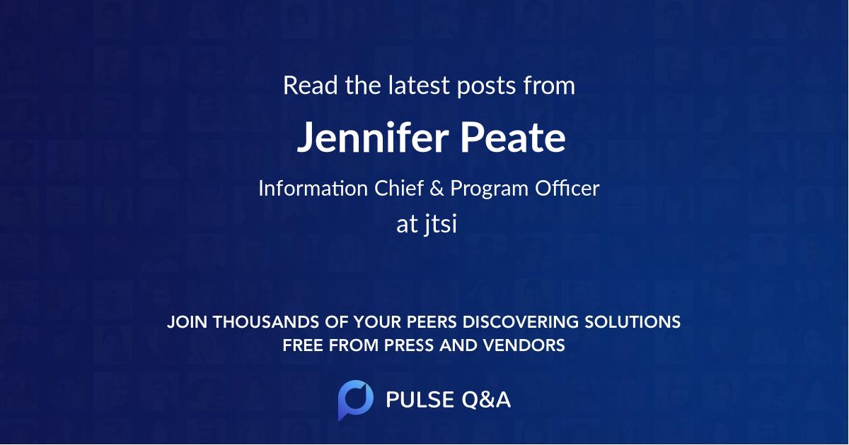 Jennifer Peate